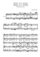Téléchargez la partition de Noël est venu en PDF pour 3 voix SAB et piano