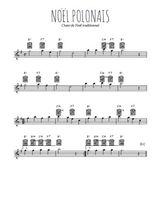 Téléchargez la partition pour saxophone en Mib de la musique noel-polonais en PDF