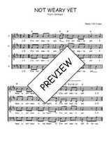 Téléchargez l'arrangement de la partition de Traditionnel-Not-weary-yet en PDF à quatre voix