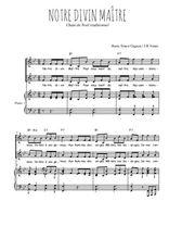 Téléchargez la partition de Notre Divin Maître en PDF pour 2 voix égales et piano