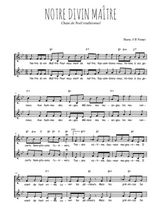 Téléchargez l'arrangement de la partition de Traditionnel-Notre-Divin-Maitre en PDF à deux voix