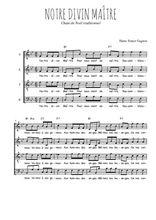 Téléchargez l'arrangement de la partition de Traditionnel-Notre-Divin-Maitre en PDF à quatre voix