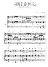 Téléchargez la partition de Notre Divin Maître en PDF pour Chant et piano