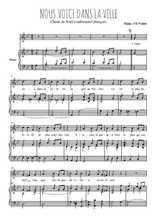 Téléchargez la partition de Nous voici dans la ville en PDF pour Chant et piano