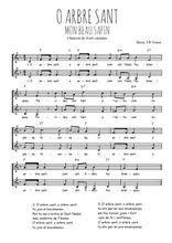 Téléchargez l'arrangement de la partition de Traditionnel-O-arbre-sant en PDF à deux voix