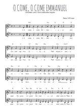 Téléchargez l'arrangement de la partition de Traditionnel-O-come-o-come-Emmanuel en PDF à deux voix