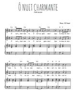Téléchargez la partition de O nuit charmante en PDF pour 2 voix égales et piano