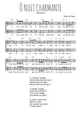 Téléchargez l'arrangement de la partition de noel-o-nuit-charmante en PDF à deux voix