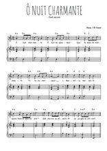 Téléchargez la partition de O nuit charmante en PDF pour Chant et piano