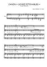 Téléchargez la partition de Canon Soyez pitoyables en PDF pour 2 voix égales et piano