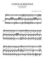Téléchargez la partition de Choeur de brigands en PDF pour Chant et piano