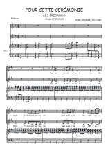 Téléchargez la partition de Pour cette cérémonie en PDF pour 2 voix égales et piano