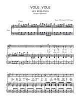Téléchargez la partition de Vole, vole en PDF pour 2 voix égales et piano