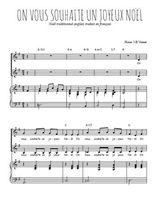 Téléchargez la partition de On vous souhaite un Joyeux Noël en PDF pour 2 voix égales et piano