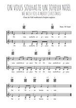 Téléchargez l'arrangement de la partition de on-vous-souhaite-un-joyeux-noel en PDF à deux voix