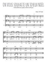 Téléchargez l'arrangement de la partition de on-vous-souhaite-un-joyeux-noel en PDF à trois voix