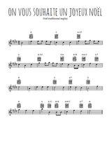 Téléchargez la partition pour saxophone en Mib de la musique on-vous-souhaite-un-joyeux-noel en PDF