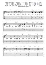 Téléchargez la tablature de la musique on-vous-souhaite-un-joyeux-noel en PDF