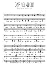 Téléchargez l'arrangement de la partition de hymne-national-luxembourgeois-ons-heemecht en PDF à deux voix