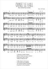 Téléchargez l'arrangement de la partition de Traditionnel-Ornez-le-hall en PDF à deux voix