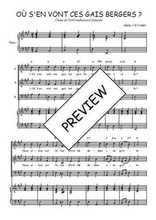 Téléchargez la partition de Où s'en vont ces gais bergers en PDF pour 3 voix SAB et piano