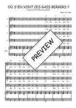 Téléchargez la partition de Où s'en vont ces gais bergers en PDF pour 4 voix SATB et piano