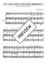 Téléchargez la partition de Où s'en vont ces gais bergers en PDF pour Chant et piano