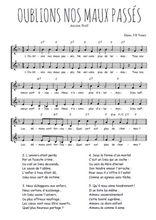 Téléchargez l'arrangement de la partition de Traditionnel-Oublions-nos-maux-passes en PDF à deux voix