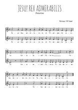 Téléchargez l'arrangement de la partition de Giovanni-Pierluigi-da-Palestrina-Jesu-rex-admirabilis en PDF à deux voix