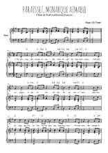 Téléchargez la partition de Paraissez, monarque aimable en PDF pour Chant et piano