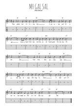 Téléchargez la tablature de la musique paul-dresser-my-gal-sal-1905 en PDF