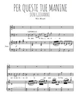 Téléchargez la partition de Per queste tue manine en PDF pour Chant et piano