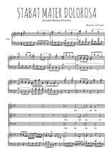 Téléchargez la partition de Stabat Mater Dolorosa en PDF pour 3 voix SAB et piano