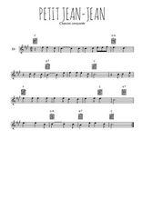 Téléchargez la partition pour saxophone en Mib de la musique savoie-petit-jean-jean en PDF