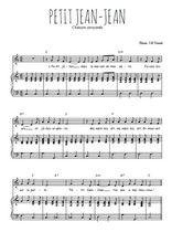 Téléchargez la partition de Petit Jean-Jean en PDF pour Chant et piano