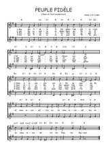 Téléchargez l'arrangement de la partition de Traditionnel-Peuple-fidele en PDF à deux voix
