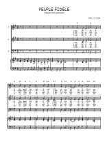 Téléchargez la partition de Peuple fidèle en PDF pour 3 voix SAB et piano