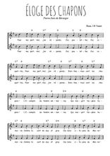 Téléchargez l'arrangement de la partition de pierre-jean-de-beranger-eloge-des-chapons en PDF à deux voix