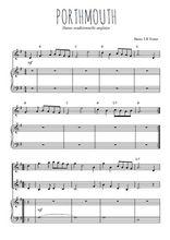 Téléchargez la partition de Portsmouth en PDF pour 2 voix égales et piano