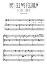Téléchargez la partition de But ere we this perform en PDF pour Chant et piano