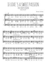 Téléchargez l'arrangement de la partition de Henry-Purcell-If-love-s-a-sweet-passion en PDF à trois voix