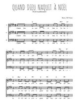 Téléchargez l'arrangement de la partition de Traditionnel-Quand-Dieu-naquit-a-Noel en PDF à trois voix