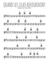 Téléchargez la partition en Sib de la musique quand-les-lilas-refleuriront en PDF