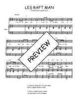 Téléchargez la partition de Les raft man en PDF pour Chant et piano