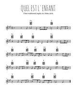 Téléchargez la partition en Sib de la musique noel-quel-est-l-enfant en PDF