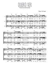 Téléchargez l'arrangement de la partition de Traditionnel-Quero-ver en PDF à trois voix