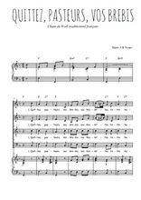 Téléchargez la partition de Quittez, pasteurs, vos brebis en PDF pour 4 voix SATB et piano