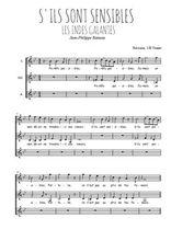 Téléchargez l'arrangement de la partition de Jean-Philippe-Rameau-La-danse-des-Sauvages en PDF pour trois voix de femmes