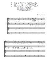 Téléchargez l'arrangement de la partition de Jean-Philippe-Rameau-La-danse-des-Sauvages en PDF à quatre voix