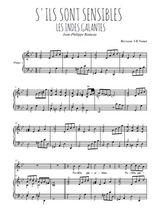 Téléchargez la partition de La danse des Sauvages en PDF pour Chant et piano